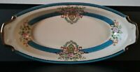 """Antique NORITAKE """"M"""" Handpainted Oval Serving/Side Dish, Made in Japan"""