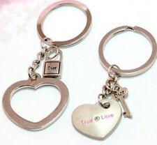 Keyring Ring Love Heart Key Keychain Fashion Gift 2Pcs New Couple Lover Keyfob