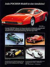 POCHER WERBESEITE...Ferrari Testarossa und andere.. , Zeitungsanzeige