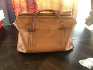 Hartmann Luggage Leather Vintage Duffel Gym Bag Carry On Made In USA!
