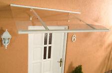 Alu Haustürvordach Klassik weiß 160 x 85 cm mit 4 mm Acrylglas Eindeckung