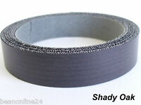 Iron-On Melamine Veneer Edging Tape - SHADY OAK - 21mm x 5 metres - Pre Glued