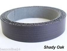 Iron-On Melamine Veneer Edging Tape - SHADY OAK - 21mm x 5 metres - Pre Glued