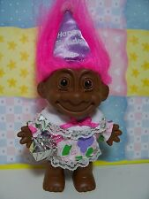 "BLACK BIRTHDAY GIRL - 5"" Russ Troll Doll - NEW IN ORIGINAL WRAPPER"