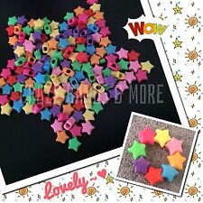 60 Candy Color Star shape Beads fit Rainbow Loom Rubber Bands Bracelet craft