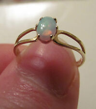 10Kt. Opal Yellow Gold  Ring- Sz 6.5, Gm .85, New, Oval Stone