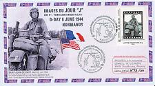 "FDC ""Soldat US sur une Moto Harley-Davidson WLA - 67 ans D-DAY / WWII"" 2011"