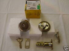 "Lot of 2 Yale Residential 820-15 deadbolts Satin Nickel Will fit 1 1/2"" dia hole"
