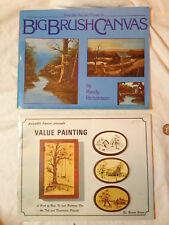 VINTAGE PAINTING INSTRUCTION BOOKS w/PATTERNS  VALUE PAINTING & BIG BRUSH CANVAS