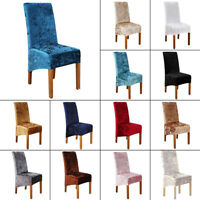 Velvet Stretch Dining Chair Cover Removable Slipcover Washable Banquet Cover