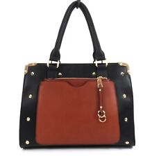 Women PU Leather Style Office Work Shoulder Bag Handbag With Matching Purse UK