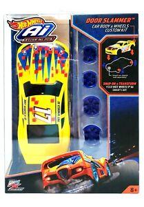Hot Wheels A.I. Car Body & Wheels Custom Kit NEW Door Slammer, Yellow NIB