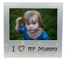 I Love My Mummy Photo Picture Frame Gift 5 X 3.5 Inch (brushed Aluminium Satin Silver Colour)