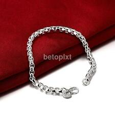 New Women Ladies Fashion Silver Plated Cuff Charm Chain Bracelet Jewelry Gift