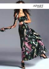Neu mit Etikett Maxi-Kleid von Apart, Satin, schwarz-bunt Gr. 44, UVP: 119,00 €