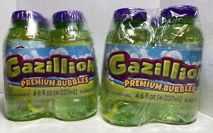 Gazillion 8oz Premium Bubbles SEALED 2 Packs Of 4
