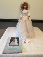 """Maryse Nicole Franklin Mint Heirloom Carolyn Bride Doll porcelain 20"""""""