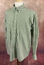 Eddie Bauer Wrinkle Resistant Relaxed Fit Button Down Green Stripe Shirt Mens XL
