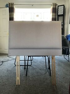 John Lewis Caversham Grey Fabric Padded Single High Quality Headboard