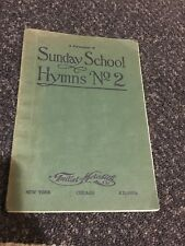 Antique 1910 A Forerunner of Sunday School Hymns No. 2 Hymnal Book Paperback