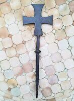 Croix des templiers - fer forgé massif 43,5 cm