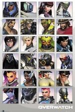 OVERWATCH ~ 24 CHARACTER PORTRAITS ~ 24x36 Video Game Poster NEW/ROLLED!