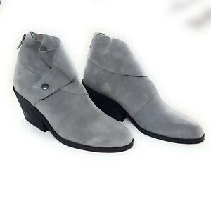 Eileen Fisher Stacked Heel Women's Boots, Grey, 6
