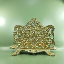 More details for vintage art nouveau solid brass letter rack two sections in excellent condition