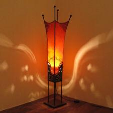 Oriental Lámpara de henna marruecos Cuero pie Faraón h100cm
