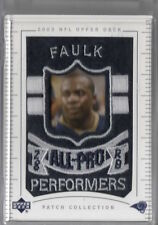 2003 Marshall Faulk Upperdeck Patch Collection Rams A3810