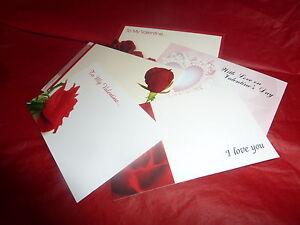 Valentine love theme cards x 50 Floristry message cards mixed designs 9cm x 6cm