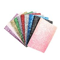 22*30CM Chunky Glitter Fabric Shiny Laser Sequins DIY Bag Shoes Crafts Materials