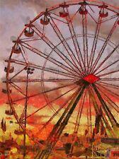 Pintura Noria Feria Paseo divertido de arte cartel impresión Casa imagen bb1620a