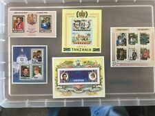 Thematic royalty Stamps 1981 Royal Wedding Mini-sheets Mint