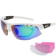 Fahrradbrille Radbrille Korrektur Clip verglasbar rosa blaue klare Scheiben