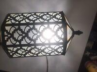 Antique Vtg Arts Crafts Porch Light Sconce with glass Panels
