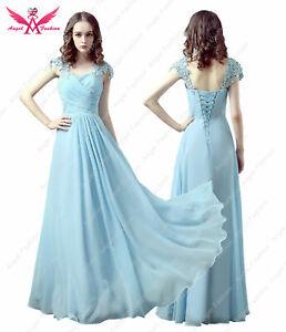 Chiffon Capsleeve Sweeteart Evening Formal Prom Bridesmaid Dress