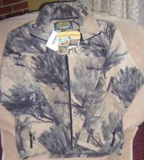 NEW Cabela's size small adult full zipper fleece jacket Open Country  camo NWT