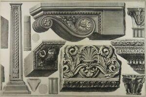 GIOVANNI BATTISTA PIRANESI ETCHING ROMAN ARCHITECTURE Della Magnificenza Rome