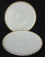 ADDERLEY England china PRINCESS H1393 Set of Two (2) Cream Soup Saucers - 6-3/4""