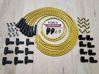 7mm Universal Cloth Covered Spark Plug Wire Kit Set Vintage Wires v6 v8 hot rod