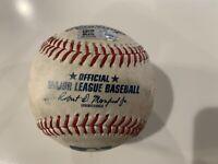 JOEY VOTTO BRANDON WOODRUFF Foul 9/21/2020 Game Used Baseball Brewers vs Reds