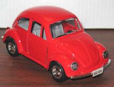 Vintage VW BEETLE Big Red Diecast Metal Car FRICTION TOY Rare! MINT Shackman