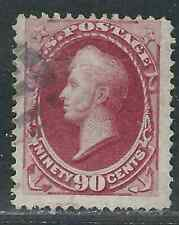 US Stamps 155 90¢ Carmine Perry Used Fine 1870 SCV $325.00