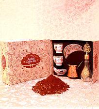 Best Ottoman Turkish  Brass Tea Coffee Saucers Cups Gift Set