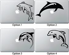 Dolphin Sticker Apple Mac Book Air/Pro Dell Laptop Decal Flowers Tribal Jumping