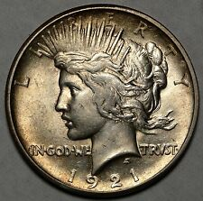 1921 Peace Silver Dollar, Choice Uncirculated, Very Well Struck!   0817-04