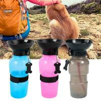 Puppy Dog Cat Pet Water Bottle Cup Drinking Travel Outdoor Portable 500ML
