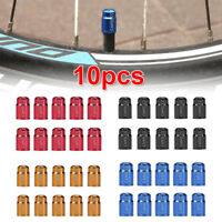 10pcs Aluminum Bike Bicycle Ventilkappe Fahrrad Cover Cap für Schrader Ventile
