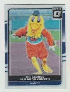 The Famous San Diego Chicken 2016 DONRUSS OPTIC SILVER REFRACTOR CARD #165